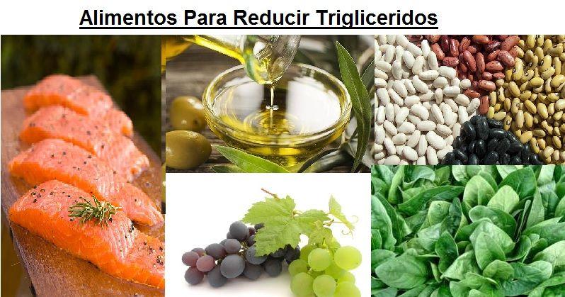 alimentos para reducir trigliceridos