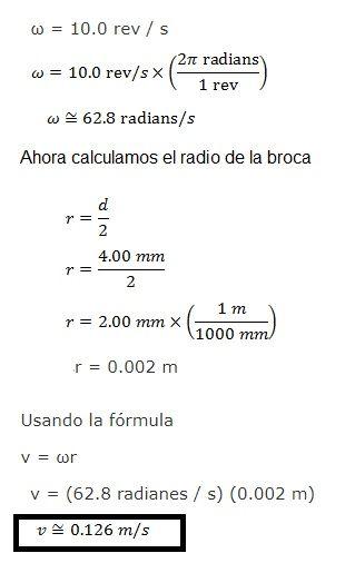 problema de velocidad lineal