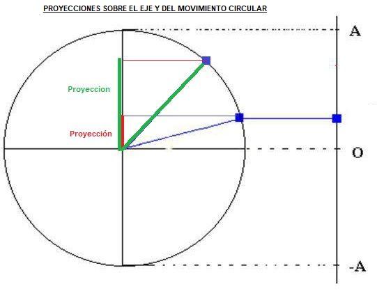 proyecciones del movimiento circular