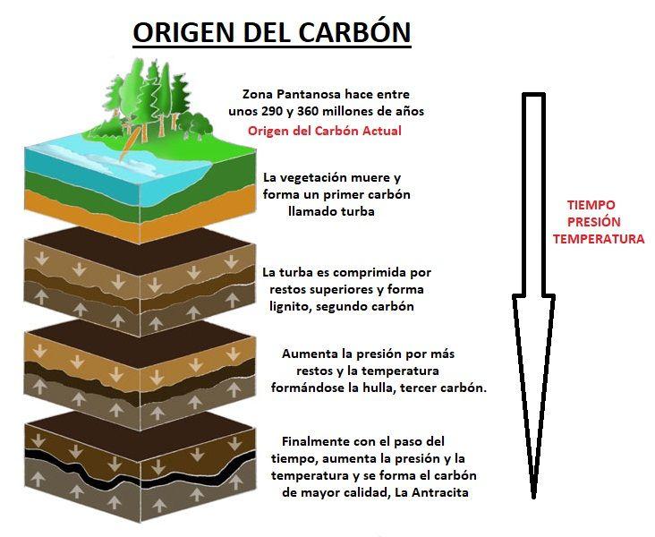 origen del carbon