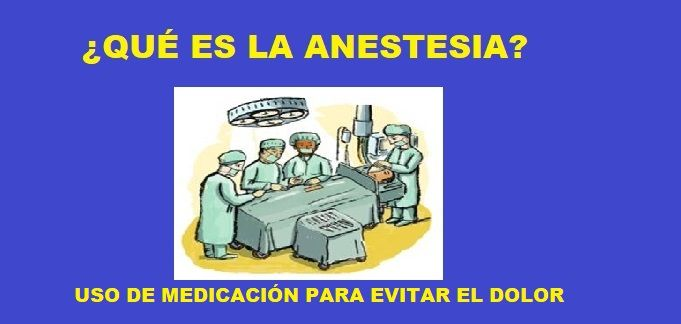 que es la anestesia