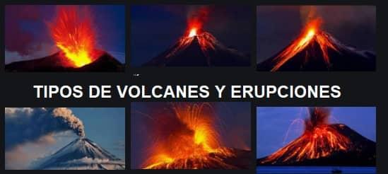 tipos volcanes y erupciones