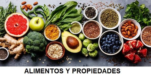 alimentos y propiedades para la salud