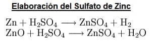 sulfato de zinc elaboración